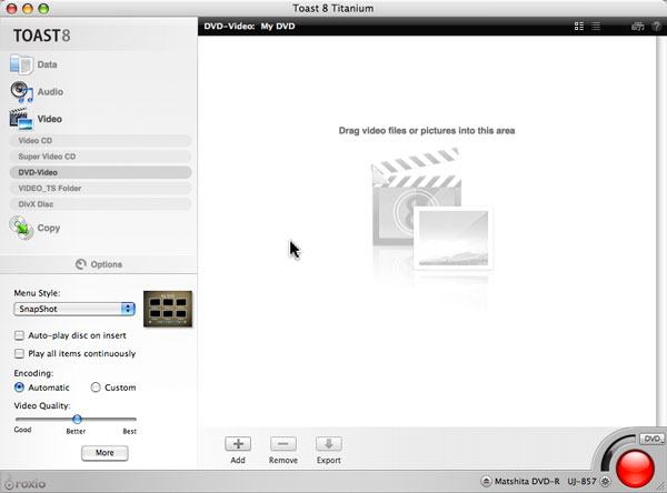 making dvds with toast 8 titanium myroxio rh docs roxio com Roxio Icon Roxio Creator 2009 Icon