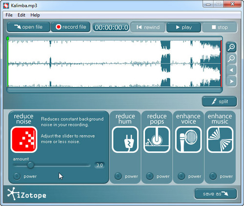 The IZotope Music Speech Cleaner Part Of Roxio Creator 2012 Pro Guides You Through Process Click Image To Enlarge